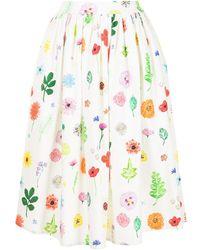 Mira Mikati Floral Midi Skirt - Multicolour