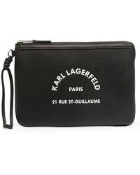 Karl Lagerfeld Rue St Guillaume Pouch - Black
