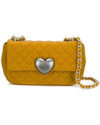 Boutique Moschino Quilted Crossbody Bag - Yellow