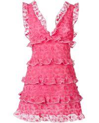 Giamba - Ruffled Dress - Lyst
