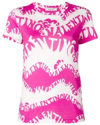 Valentino - All Over Printed T-shirt - Lyst