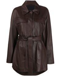 Brunello Cucinelli Куртка С Поясом - Коричневый
