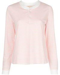 Morgan Lane Kaia striped-print PJ set - Pink
