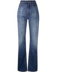 Saint Laurent Logo-patch Denim Jeans - Blue