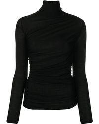 Giambattista Valli Fine Knit Roll Neck - Black