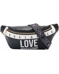 Love Moschino ロゴ ベルトバッグ - ブラック