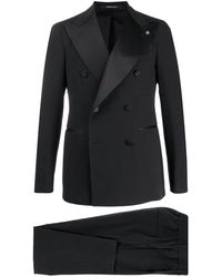Tagliatore Double-breasted Slim Fit Suit - Black