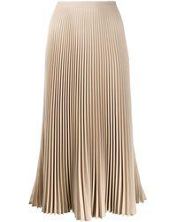 Prada Accordion Pleated Mini Skirt - Natural