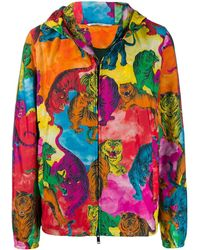 Valentino Windbreaker mit Tiger-Print - Orange