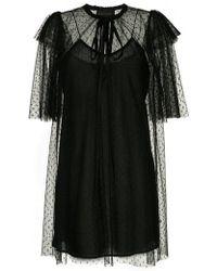 Karen Walker - Dark Squares Dress - Lyst