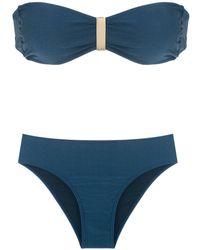 Lygia & Nanny 'Ester Trilobal' Bikini mit Bandeau-Top - Blau