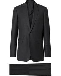 Burberry スリムフィットスーツ - ブラック