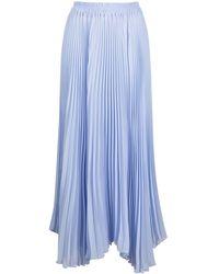 Styland Jupe longue plissé - Bleu