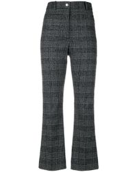 WOOD WOOD - Plaid Cropped Trousers - Lyst