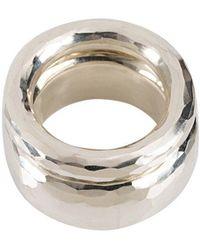 Werkstatt:münchen - Hammered Ring Set - Lyst