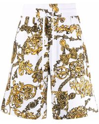 Versace Jeans Couture Шорты С Принтом Barocco - Белый