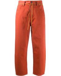 Levi's Cropped Jeans - Orange