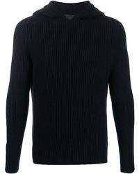 Iris Von Arnim Hooded cashmere jumper - Bleu