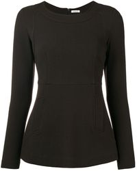 P.A.R.O.S.H. - Fitted long sleeve blouse - Lyst