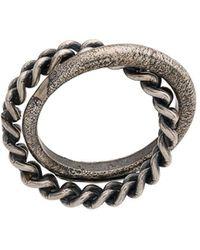Goti Chain Detail Ring - Metallic