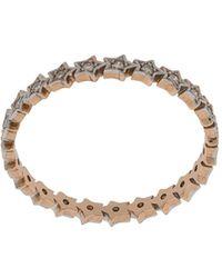 Kismet by Milka Anello Full Star in oro rosa 14kt con diamanti - Metallizzato