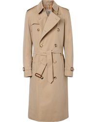 Burberry The Kensington Heritage Long Trench Coat - Naturel