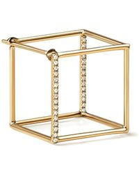 Shihara Diamond Square Earring 15 (01) - Многоцветный
