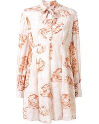 Karen Walker Gardenesque Floral-print Silk Dress - Pink