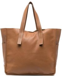 P.A.R.O.S.H. Pebbled-effect Tote Bag - Brown
