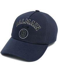 Balmain Бейсболка С Вышитым Логотипом - Синий