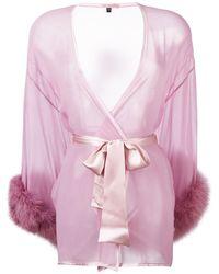 Gilda & Pearl Diana キモノスタイル ナイトウェア - ピンク