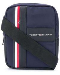 Tommy Hilfiger ロゴ メッセンジャーバッグ - ブルー