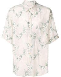 Etro Hemd mit Blatt-Print - Natur