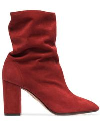 Aquazzura - Boogie 85 Suede Ankle Boots - Lyst