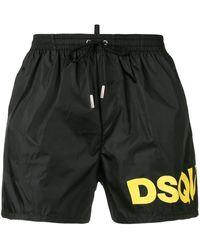 DSquared² Zwemshorts Met Logo Aan Zijkant - Zwart