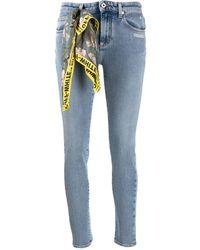 Off-White c/o Virgil Abloh Scarf Detail Skinny Jeans - Blue