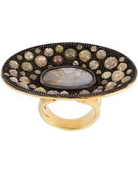 Loree Rodkin - Diamond Disc Ring - Lyst