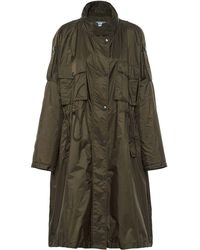 Prada Drawstring Waist Raincoat - Green