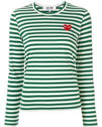 COMME DES GARÇONS PLAY - ロゴパッチ Tシャツ - Lyst