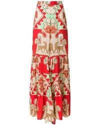 Adriana Degreas Printed Wide Trousers - Красный