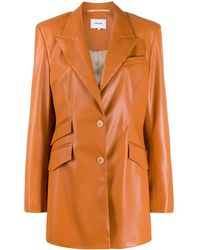 Nanushka 'Cancun' Jacke aus veganem Leder - Orange