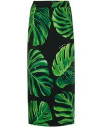 Dolce & Gabbana Philodendron ペンシルスカート - ブラック