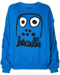 Haculla Sweatshirt mit Monster-Print - Blau
