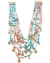 Rosantica Layered Medallion Necklace - Metallic