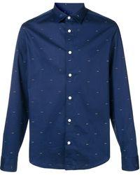 KENZO プリント シャツ - ブルー