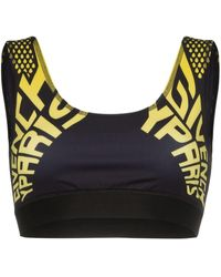 Givenchy Logo Print Sports Bra - Black