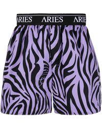 Aries Zebra-print Boxers - Purple