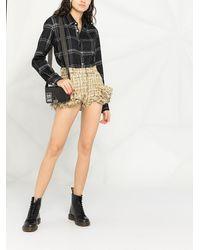 Natasha Zinko Shorts de tweed - Amarillo