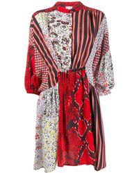 Lala Berlin パッチワーク ドレス - レッド