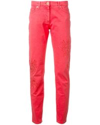 Blumarine - Slim Fit Trousers - Lyst